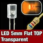 430O/25# LED 5mm Orange cylindrique  25pcs  - Flat TOP LED orange 25pcs F-S