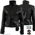 Aviatrix Ladies Womens Genuine Leather Jacket Black # Lara