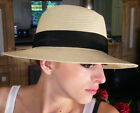 NEW Classic Fashion Sun Rollable Straw Fedora Trilby Mens Womens Unisex S M L XL