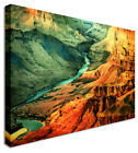 Grand Canyon Lake Valley Orange Canvas Wall Art Pictures For Home Interiors