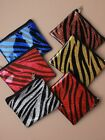 Bright Coloured Glitter Zebra Striped PVC Purse Coin Purse