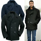 US Navy Pea Coat XS-5XL Marine Mantel Wolle Wintermantel Kurzmantel Caban Colani