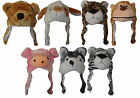 X95 GIRLS KIDS LADIES FLEECE LINED TRAPPER ANIMAL SKI HAT GIFT IDEA ALL ANIMALS
