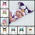 Cute Kids/ Baby/Girl / Boy Hat Knitted Beanie Wooly Winter Hats Caps Owl New