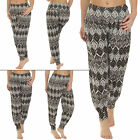 NEW Womens Ladies Ali Baba Large Aztec Print Trousers Pants Size 8-14 S M L XL