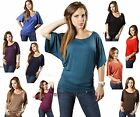 New Slouchy Batwing Dolman Kimono Sleeve Loose Fit Casual Jersey Tee Shirt Top