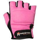 PINK WEIGHT LIFTING WORKOUT LEATHER GLOVES Meister Fitness Training ALL SIZES