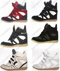 Annakestle Womens Velcro Strap High-TOP Sneakers Shoes/Ladys Ankle Wedge Boots