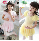 Girl Leotard Ballet Tutu Dance Party Dress 3-8Y Kids Gymnastics Costume Skate