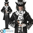 DARK MAD HATTER HALLOWEEN COSTUME ALICE IN WONDERLAND MENS FANCY DRESS OUTFIT