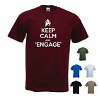 'Keep Calm and Engage' Funny Star Trek Next Generation / Captain Picard T-shirt