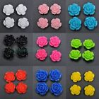 10/20pcs Carved Rose shape Flower Coral Spacer Jewelry beads 10color to Choose