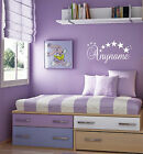 Personalised wall stickers any name any colour kids boys girls bedroom stars