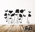 Wall Decal flowers & butterfly's in white or black 23
