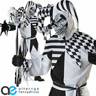 ADULT MENS NOBODYS FOOL HALLOWEEN FANCY DRESS COSTUME MEDIEVAL JESTER OUTFIT