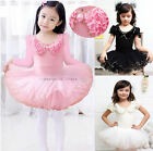 Girls New Leotard  Ballet Tutu Dance Party Dress 3-9Y Kids Skate Skirt 2 Colors