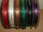 2m Berisfords Merry Christmas Satin Ribbon 10mm Various Colours