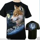 Wolf Pack Biker Native American Indian Animal Motorbike T SHIRT