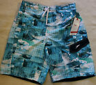 New Men Speedo Swimwear shorts - Water Blue Plaids Swim Trunks Watershorts # 2
