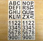 24mm Black Sticky Vinyl Letters or Numbers Stickers Self-Adhesive Plastic Labels