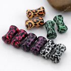 Pair 3-16mm Acrylic Leopard Print Solid Saddle Ear Tunnel Plug Earlet Piercing