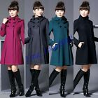 2012  Hot sell  Women's Fashion Wool Cashmere Winter Noble Long TRENCH Coat #72