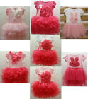 NWT Girls Kids Pretty Skirt 2-8Y Baby Tutu Dress With Bunch Tank Lovely Clothes