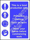 This is a food production area Multi Message - FOOD0005 Stickers & Signs