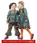 SEWING PATTERN! MAKES TOP~PANTS~DRESS! CHILD 3 TO 8! GIRL CLOTHES~BOUTIQUE STYLE
