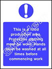 This food production area - FOOD0013 Sticker & Sign