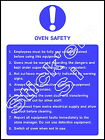 Oven Safety  - FOOD0020 Sticker & Sign