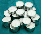 Tealight Candles 3-4 Hour White Unscented~20, 40, 60, 100, 150, 200, 300 or 400
