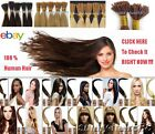 16''Beauty Wrap Remy Fusion I Stick Tip Human Hair Extensions 9Color Salon Style