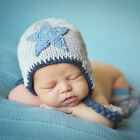 Melondipity Twinkle Little Star Baby Boy Hat - Handmade Crochet Beanie with Star