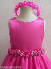 CHRISTMAS EASTER PAGEANT FUSCHIA FLOWER GIRL PARTY DRESS  SIZE  2  4 6  8 10 12