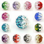 Shamballa Multi-Color Crystal Clay Pave Rhinestone Disco Ball Beads for Bracelet