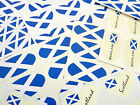 Scottish St Andrews Flag Stickers, Scotland Labels - Various Shapes & Sizes