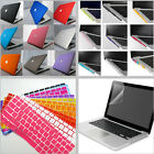 4in1 for NEW Macbook PRO 13 15 Rubberized Hard Case anti dust key Cover retina