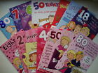 Birthday Card 18th 21st 30th 40th 50th 60th 70th 80th Quality card Insert