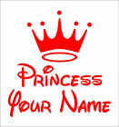 Personalize PRINCESS YOUR NAME decal sticker vinyl wall art nursery kids room P2