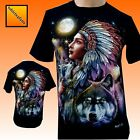 Wolf Eagle Moon Native American Red Indian Biker T Shirt  NEW