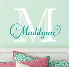 MONOGRAM Personalized Name Vinyl Wall Decal Sticker Girls Nursery Bedroom Decor