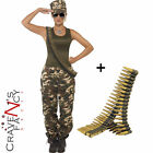 Ladies Sexy Military Army Soldier Girl Costume Fancy Dress 8-22 Hen Uniform War