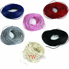 Round 32.8 Feet  Real Leather Necklace Jewelry Cord 2mm Pick Colors