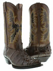 WOMEN'S CROCODILE ALLIGATOR BIG TAIL LEATHER COWBOY BOOTS WESTERN RODEO