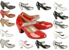 NEW GIRLS KIDS VELCRO WEDGE HEEL WEDDING SANDALS PARTY SHOES IN UK SIZES 10 - 2