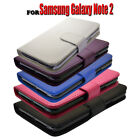 5 COLOUR WALLET FLIP PHONE CASE COVER FOR SAMSUNG GALAXY NOTE 2 GT-N7100 / N7105