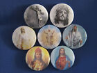 "JESUS CHRIST  Set of 7 SELECT SIZE 1""- 1.25"" OR 2.25"" Pinback Button Badge"