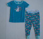 OLD NAVY Girl's 2 Piece Blue Spring Bunny Pajamas NWT