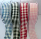 2M X QUALITY GINGHAM RIBBON UK SUPPLIER - PINK BLUE RED BLACK - CAKE CRAFT CARDS
